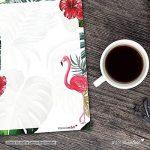 Papier à lettres Flamingo - DV_209 - format A4 - 50feuilles - Avec motifs rose et automne - Enveloppes non fournies - Pour invitation à l'anniversaire et à la Saint-Valentin de la marque #detailverliebt image 3 produit