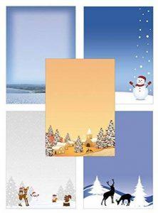 Papier à Lettres Mélange de Best of hiver 50feuilles 5X 10feuilles DIN A490g/m² winter1 de la marque Ideenstadl image 0 produit
