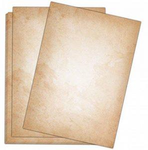 Papier à Lettres Vintage/50feuilles/DIN A4/120g/imprimé des deux côtés Motif papier à lettre au style–de qualité Sophies Carte Monde de la marque Sophies Kartenwelt image 0 produit