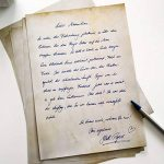 Papier à Lettres Vintage Retro 50feuilles DIN A4en kit des deux côtés Motif papier Alt Antique. Idéal pour Invitations et certificats, mariage, décoration, Noël de la marque Partycards image 1 produit