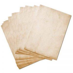 Papier à Lettres Vintage Retro 50feuilles DIN A4en kit des deux côtés Motif papier Alt Antique. Idéal pour Invitations et certificats, mariage, décoration, Noël de la marque Partycards image 0 produit