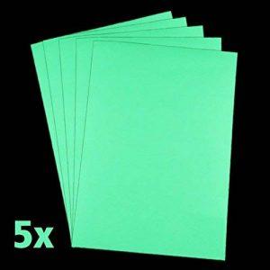 Papier lumineuse lumentics Premium–Dans le Noir brillant papier pour imprimante jet d'encre papier, papier de bricolage, UV, lot de 5, DIN A4, Night Glow de la marque Premium-Leuchtstoffe image 0 produit