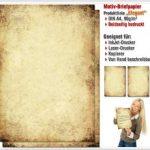 Papier à motif à lettres VIEUX PAPIER 50 feuille de papier DIN A4 de la marque Paper-Media image 1 produit