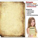 Papier à motif à lettres VIEUX PAPIER DIN A5 format 100 feuille de papier de la marque Paper-Media image 1 produit