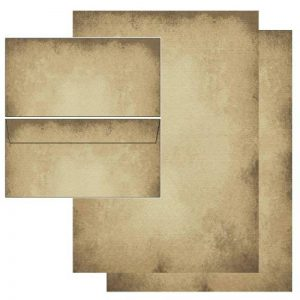 Papier à motif vieux papier - 50 feuilles de papeterie + 50 pièces enveloppes DIN longtemps sans fenêtre 5602+6602 de la marque Ideenstadl image 0 produit