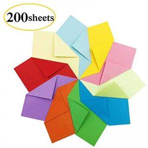 Papier Origami - 200 Feuilles Papier Coucleur de Papier Origami Double Face Pliage pour Origami Collection de 10 Couleurs Complémentaires Papiers Origami pour Enfants & Adultes 15 x 15 cm de la marque PayFly image 0 produit