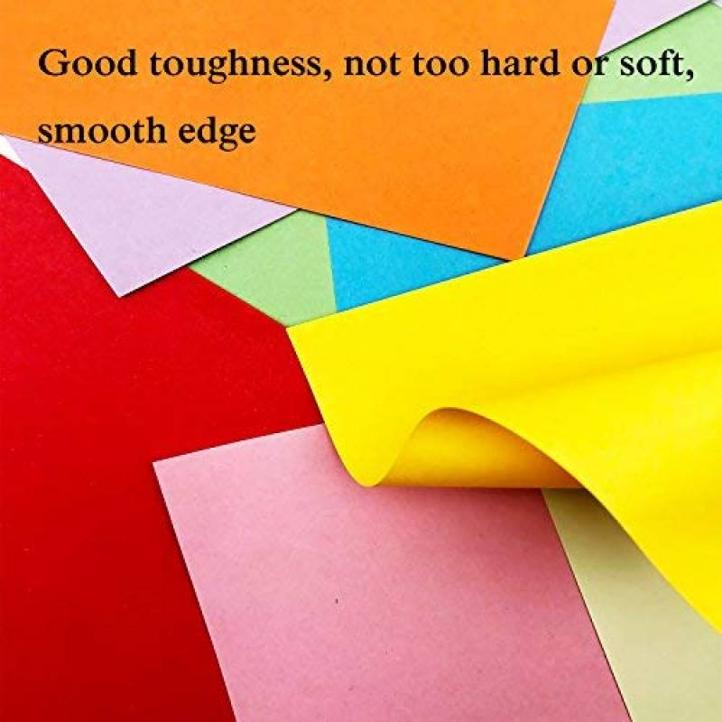 920 Feuilles 7 X 10 X 15 Cm Papier Couleur Double Face Carre Feuilles De Couleurs Origami Pour Projets Artistiques Papier Origami Couleur Bazis Az