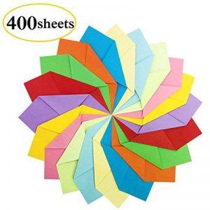 Papier Origami - 400 Feuilles Papier Couleur de Papier Origami Double Face Pliage pour Origami Collection de 10 Couleurs Complémentaires Papiers Origami pour Enfants & Adultes 15 x 15 cm de la marque PayFly image 0 produit