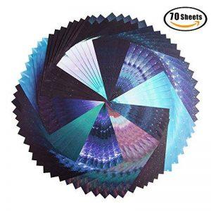 Papier Origami, 70 Feuilles Sky Stars Pack pour la grue de pli, Rose, fleurs, avions, coeurs, arts d'enfants et bricolage, papier de métiers d'art de décoration - feuille carrée de 6 pouces de la marque Veapup image 0 produit