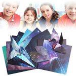 Papier Origami, 70 Feuilles Sky Stars Pack pour la grue de pli, Rose, fleurs, avions, coeurs, arts d'enfants et bricolage, papier de métiers d'art de décoration - feuille carrée de 6 pouces de la marque Veapup image 3 produit