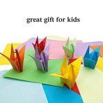 Papier Origami - 920 Feuilles d Origami Papier Couleur de Papier Origami Double Face 3 Tailles Pliage pour Origami Collection de 10 Couleurs Complémentaires Papiers Origami pour Enfants & Adultes de la marque PayFly image 3 produit