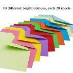 Papier Origami - 920 Feuilles d Origami Papier Couleur de Papier Origami Double Face 3 Tailles Pliage pour Origami Collection de 10 Couleurs Complémentaires Papiers Origami pour Enfants & Adultes de la marque PayFly image 1 produit