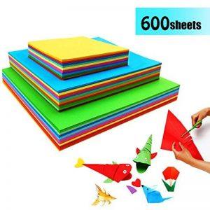 Papier Origami Couleur - 600 Feuilles Papier Couleur Double Face Carré Feuilles de Couleurs Origami Pour Projets Artistiques de la marque GoodtoU image 0 produit