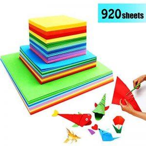 Papier Origami Couleur - 920 Feuilles Carré Papier Couleur Double Face Feuilles de Couleurs Origami Pour Projets Artistiques de la marque GoodtoU image 0 produit