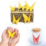 Papier Origami,Feuille Couleur 100 Couleurs Papier Feuilles carrées d'Origami Papier Coloré pour Bricolage Artisanat pour la Décoration de Fête de Jouets pour Enfants,10cm de la marque QH-Shop image 2 produit