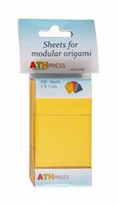 Papier Origami modulaire feuilles jaune moutarde de la marque Modular Origami Sheets image 0 produit
