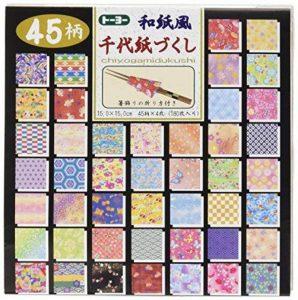 Papier à origami réversible 15cm x 15cm - Toyo - Washifu - Chiyogami - Ryoumen - Chiyogami - Zukushi de la marque TOYO image 0 produit