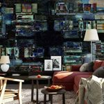 Papier peint mural - Persienne, Persiennes, Balcon, Balcon, Rooftops, Floue, Flou, Aquarelle, Peinture, Maisons, Maisons, Abstrait, Art - Thème Textures et effets - XL - 368cm x 254cm (LxH) - 4 Parts - Imprimé sur 130g/m2 papier intissé EasyInstall - 1X-1 image 4 produit