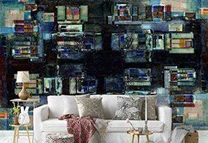 Papier peint mural - Persienne, Persiennes, Balcon, Balcon, Rooftops, Floue, Flou, Aquarelle, Peinture, Maisons, Maisons, Abstrait, Art - Thème Textures et effets - XL - 368cm x 254cm (LxH) - 4 Parts - Imprimé sur 130g/m2 papier intissé EasyInstall - 1X-1 image 0 produit