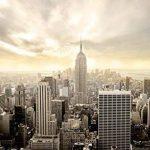 Papier Peint New York 366cm x 254cm Manhattan Skyline Shining colle inclu Photo Mural Tableaux muraux déco XXL de la marque livingdecoration image 1 produit