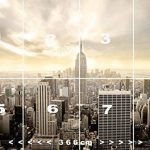 Papier Peint New York 366cm x 254cm Manhattan Skyline Shining colle inclu Photo Mural Tableaux muraux déco XXL de la marque livingdecoration image 2 produit