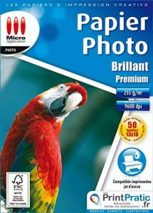 Papier Photo Brillant 13x18 - Premium - 255 g/m² - 50 feuilles de la marque Micro Application image 0 produit