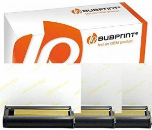 Papier photo glacé + Cartouche compatible avec CANON SELPHY KP-108IN kp-108ip CP1200 CP1000 CP910 ES1 ES2 CP200 (100x148mm) de la marque Bubprint image 0 produit