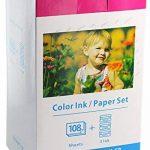 Papier photo glacé + Cartouche compatible avec CANON SELPHY KP-108IN kp-108ip CP1200 CP1000 CP910 ES1 ES2 CP200 (100x148mm) de la marque Bubprint image 1 produit