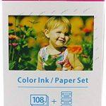 Papier photo glacé + Cartouche compatible avec CANON SELPHY KP-108IN kp-108ip CP1200 CP1000 CP910 ES1 ES2 CP200 (100x148mm) de la marque Bubprint image 2 produit