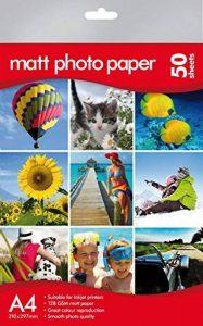 Papier photo mat A4–de qualité professionnelle –, Canon, HP, Epson, Kodak Compatible–Lot de 50 de la marque Morgans image 0 produit