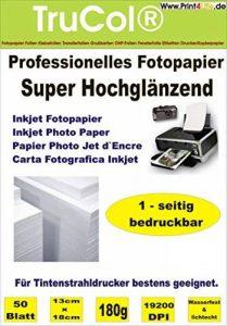 Papier photo Premium 100 feuilles de 13x18 cm 180g /m² très lustré haute brillance imperméable à l'eau de la marque trucol image 0 produit