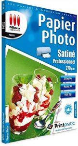 Papier Photo Satiné Professionnel A4-270 g/m² - 25 Feuilles de la marque Micro Application image 0 produit