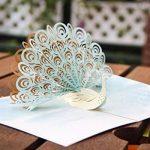 Papier Spiritz Paon 3d Happy Père carte de fête faite à la main Pop Up Cartes d'anniversaire pour elle Lui Wife enfants Origami faite à la main cadeau de mariage personnalisé carte avec enveloppe de la marque Paper Spiritz image 1 produit