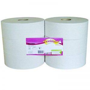 Papier toilette blanc MAXIROL 2x16g/m² - Carton de 6 rouleaux - 2 plis - 320m - I332LMR- Certifié France Medical Industrie de la marque Global Hygiène image 0 produit