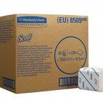 Papier Toilette Plié SCOTT* 36 8509 - Paquet de 220 feuilles blanches 2 plis (36 paquets par carton) de la marque Scott image 2 produit