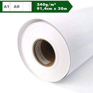 Papier traceur papier photo brillant 240g/m² 91,4cm x 30m A0A1Glossy Traceur rôle étanche, convient pour Dye Jet et les couleurs brunes de la marque Kultloggen image 0 produit