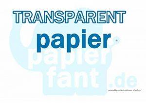 Papier transparent–100feuilles de papier transparent DIN long 110–115g/m²–papierfant. de–Super. de la marque papierfant.de image 0 produit