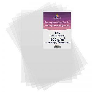 Papier transparent imprimable DIN A4Blanc | 125feuilles de papier 100g/m² | Transparent | TRIT Art de la marque Tritart image 0 produit