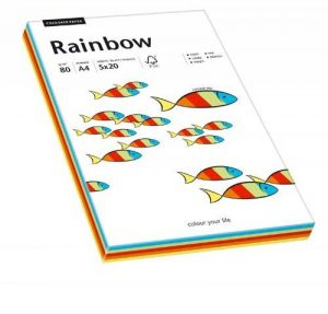 Papyrus 88043188 Ramette de 100 feuilles de papier multifonctions A4 80 g/m² Rainbow (Mélange de couleurs) de la marque Papyrus image 0 produit