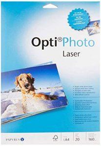 Papyrus 88081861 - Papier Opti Photo laser A4, 160 g/m², 20 feuilles blanches (Import Allemagne) de la marque Papyrus image 0 produit