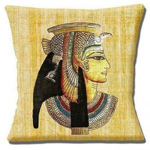 Papyrus parchemin égyptien Pharaon Tête Multicolore-40,6cm (40cm) Taie d'oreiller Housse de coussin de la marque Cushions Corner image 0 produit