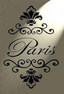 Paris Français Damask Pochoir en Mylar Vintage Shabby Chic A4297x 210Art Meuble Mural de la marque Solitarydesign image 0 produit