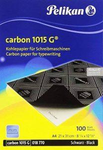 Pelikan 1015G Noir Papier carbone pour machine à écrire–Boîte de 100feuilles de la marque Pelikan image 0 produit