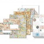 PEPIN PRESS Plan de Ville Set de Correspondance A5 40 feuilles/enveloppes de la marque PEPIN PRESS image 1 produit