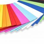 perfect ideaz 100feuilles de carton photo A5, carton de bricolage, teinté dans la masse, en 10coloris différents, grammage 300g/m², feuilles à qualité élevé de la marque perfect ideaz image 1 produit