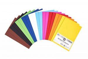 perfect ideaz 100feuilles de carton photo A5, carton de bricolage, teinté dans la masse, en 10coloris différents, grammage 300g/m², feuilles à qualité élevé de la marque perfect ideaz image 0 produit