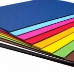 perfect ideaz 100feuilles de Cartonette A4, Papier à dessin, teinté dans la masse, en 10coloris différents, grammage 130g/m², Feuilles de bricolage d'excellente qualité de la marque perfect ideaz image 2 produit