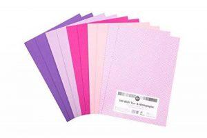 perfect ideaz 100feuilles de papier de bricolage A4 multicolore, 80feuilles de papier & 20feuilles papier à motif, 4couleurs & 1motif, papier multicolore de la marque perfect ideaz image 0 produit