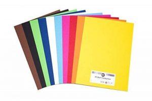 perfect ideaz 30feuilles de carton photo A3, carton de bricolage, teinté dans la masse, en 10coloris différents, grammage 300g/m², feuilles à qualité élevé de la marque perfect ideaz image 0 produit