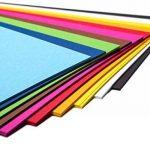 perfect ideaz 50feuilles A4 de carton photo, de carton de bricolage, teinté dans la masse, en 10coloris différents, grammage 300g/m², feuilles à qualité élevé de la marque perfect ideaz image 2 produit